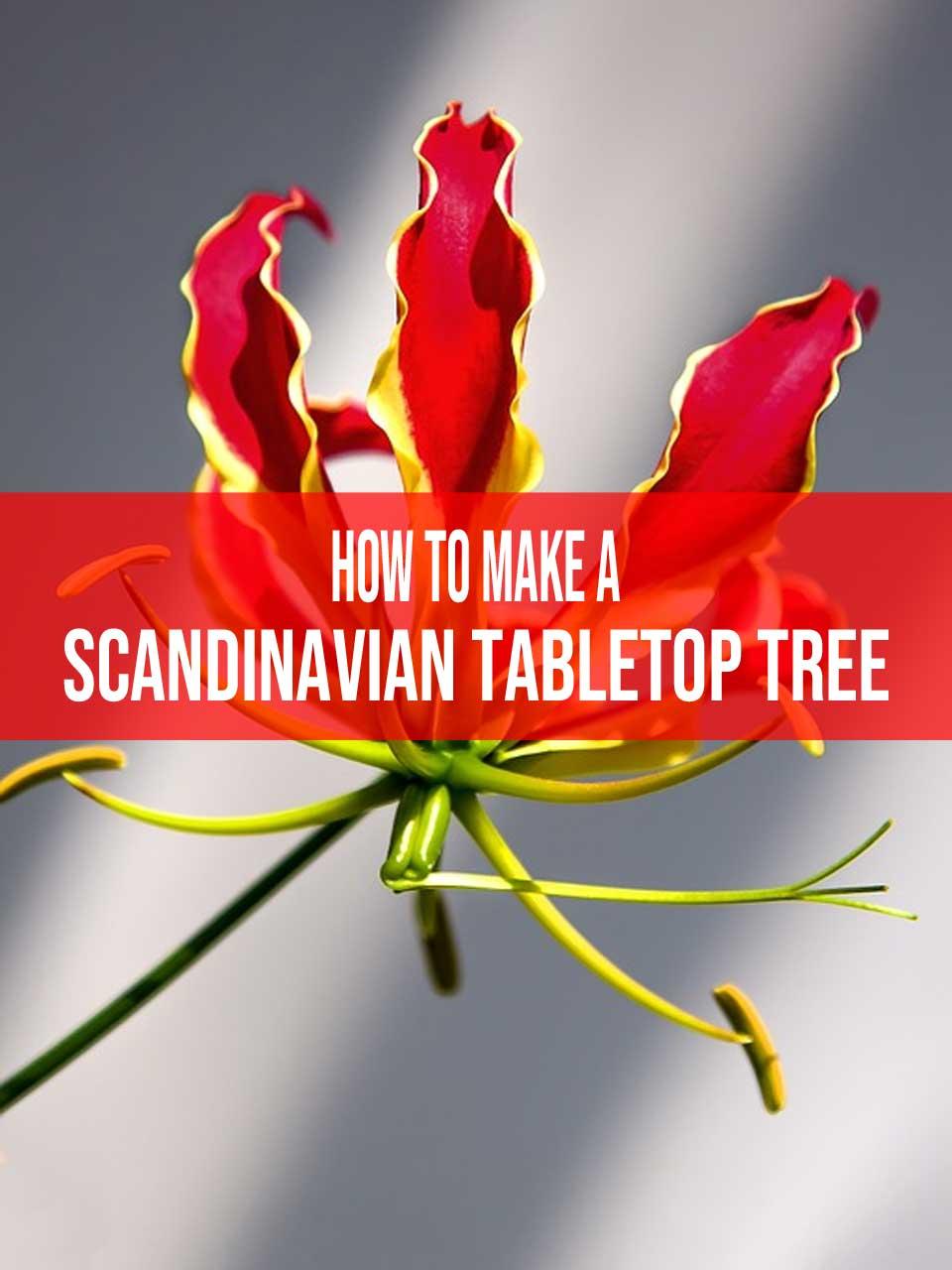 scandinavian tabletop tree