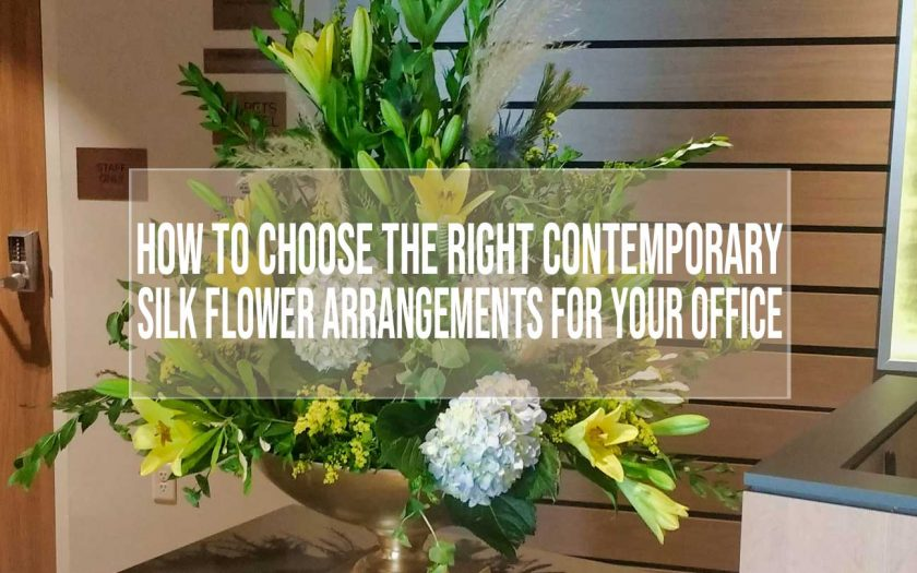 contemporary silk flower arrangements