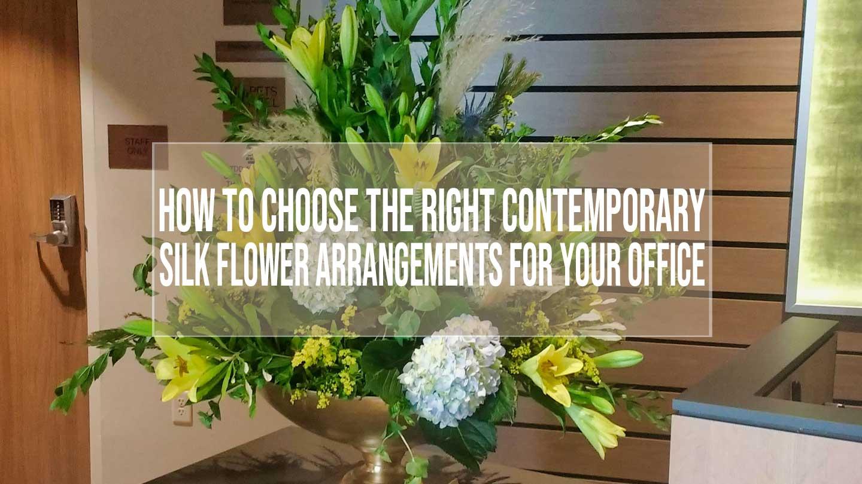 contemporary silk flower arrangements