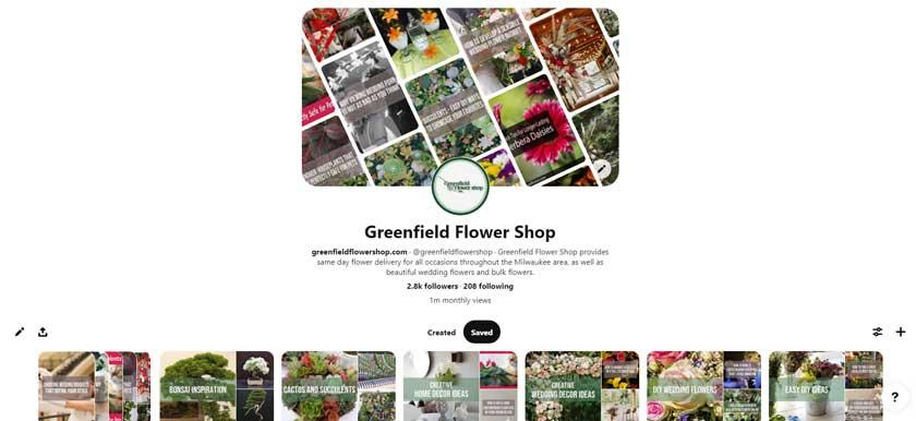 Greenfield Flower Shop on Pinterest