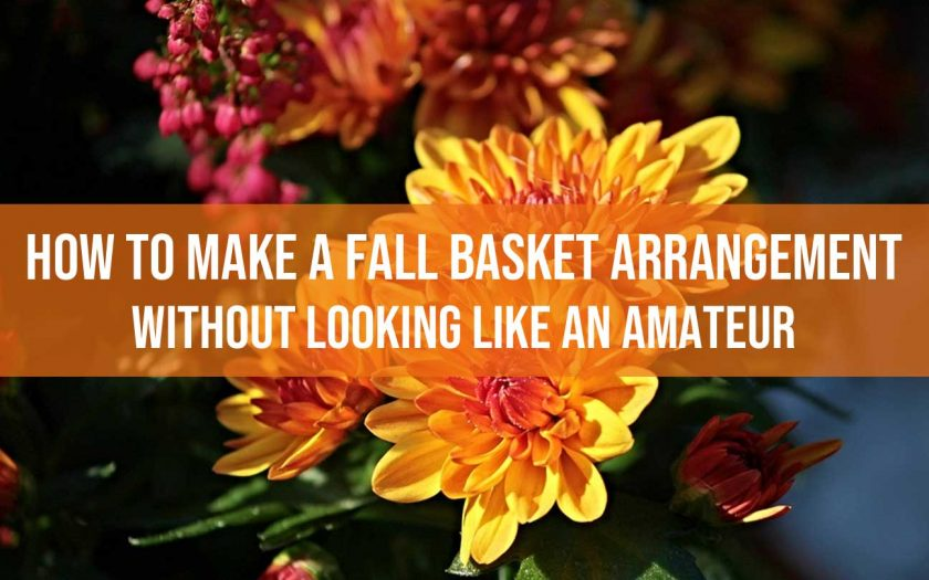 fall basket arrangement