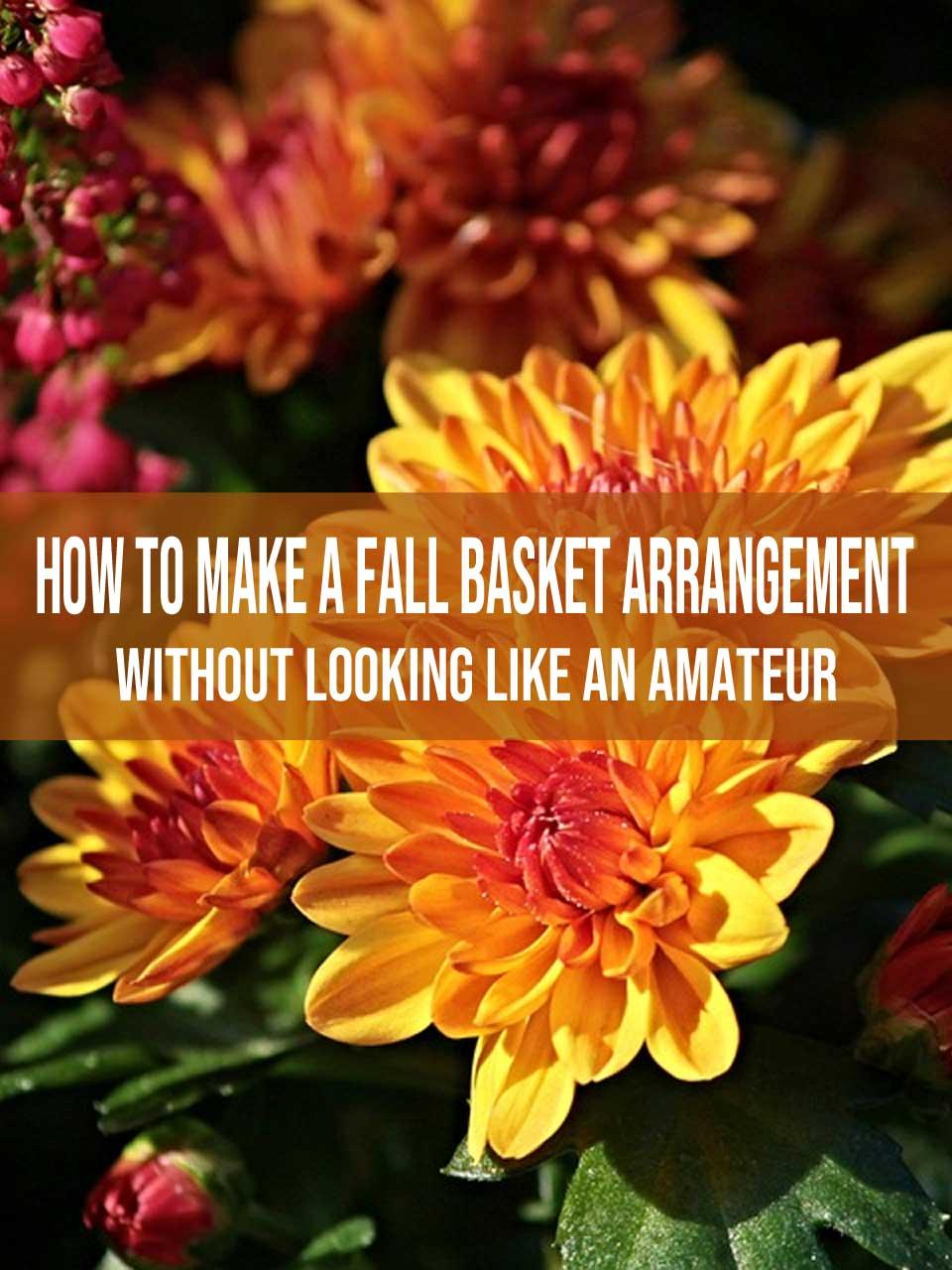 fall basket arrangement
