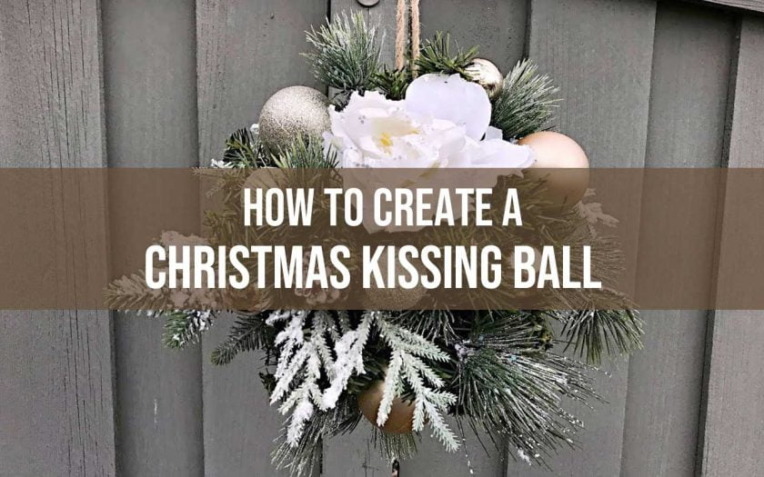 christmas kissing ball