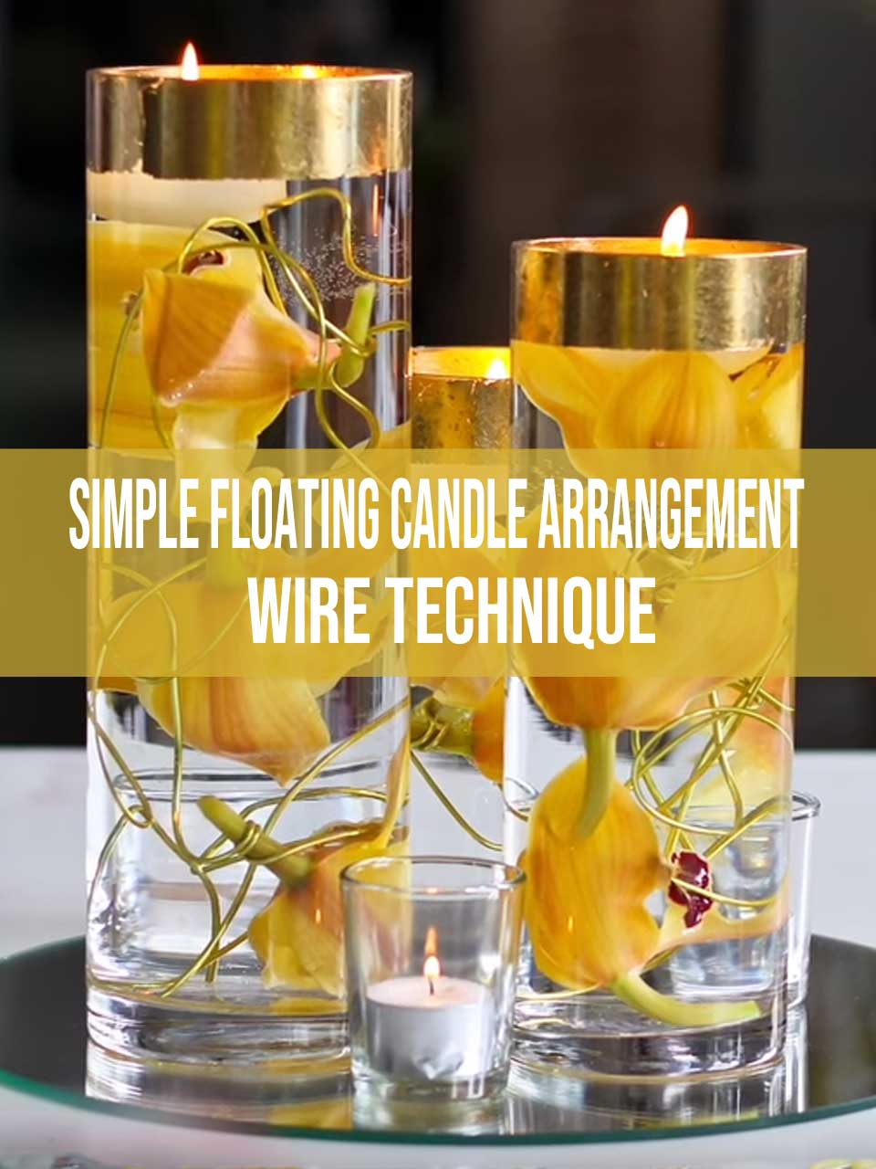 floating candle arrangement