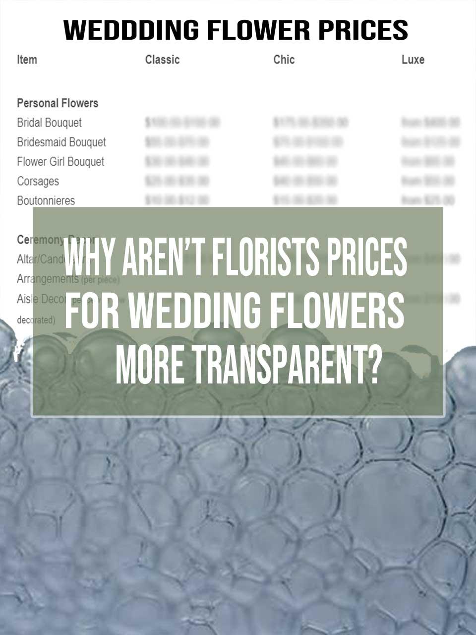 florist prices wedding flowers