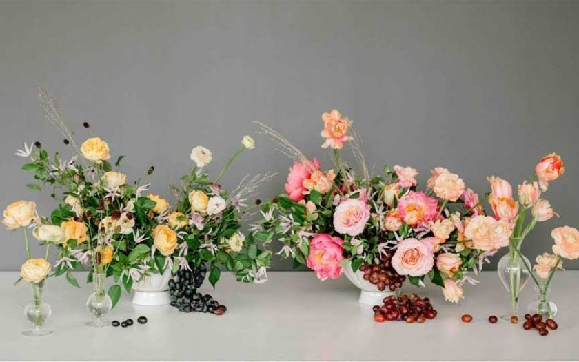 designing with floral foam or chicken wire