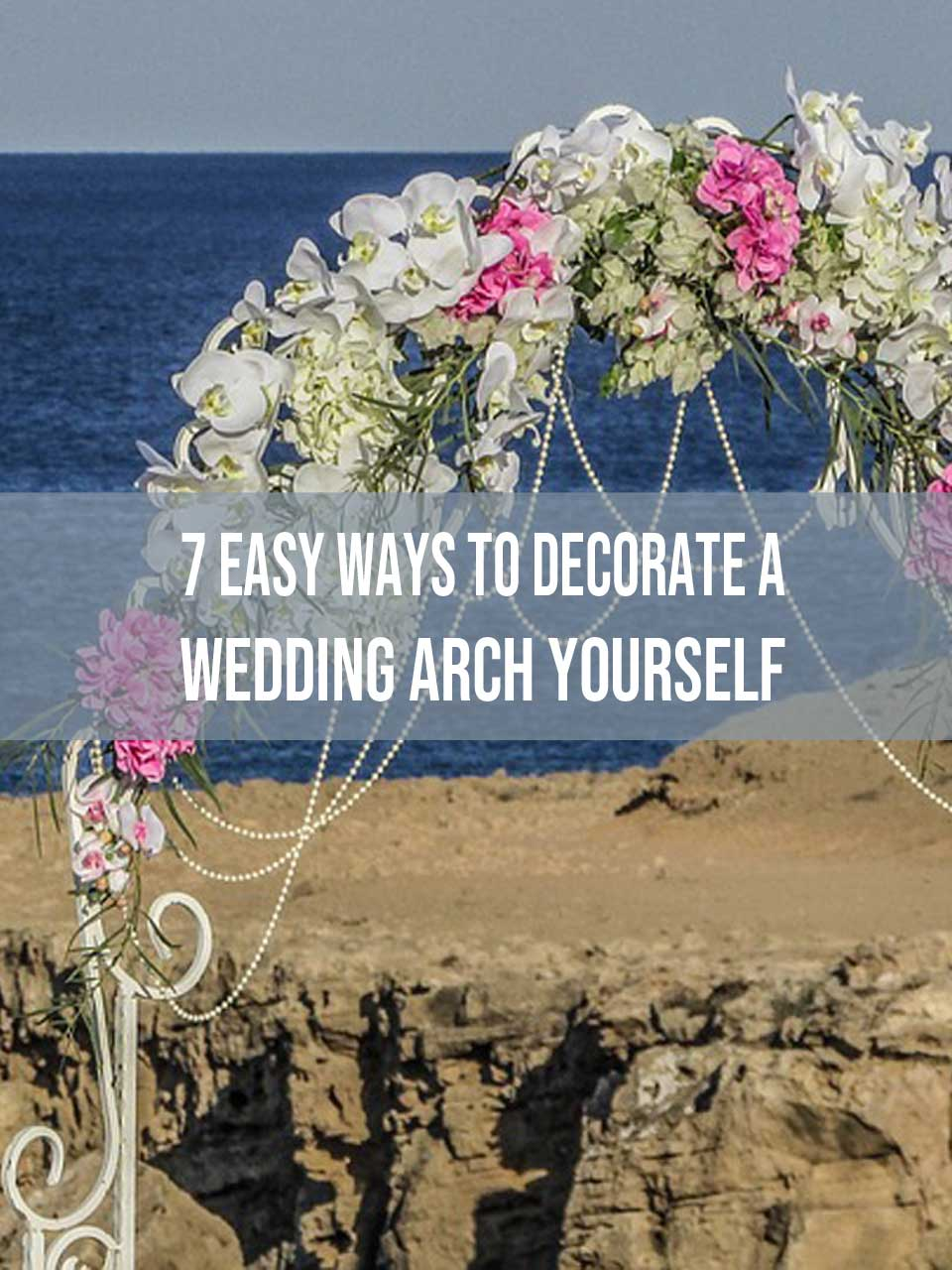 decorate a wedding arch